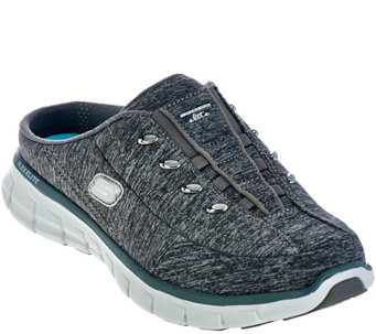 """As Is"" Skechers Heathered Jersey Bungee Mules-Synergy - A289498"