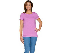 C. Wonder Essentials Slub Knit T-shirt with Neck Detail - A289698