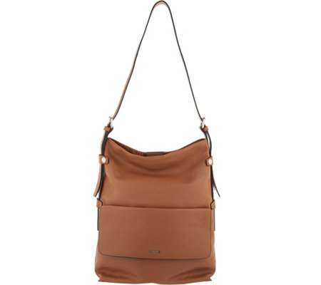 LODIS Italian Leather Convertible RFID Hobo -Laken