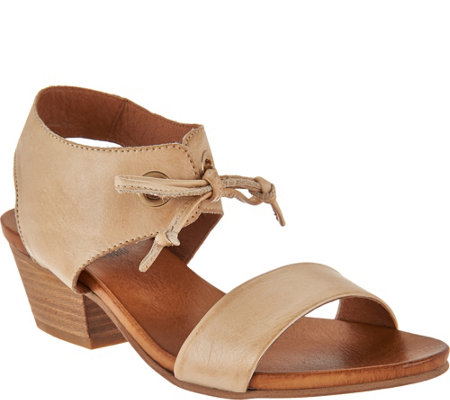 Miz Mooz Leather Sandals with Tie Detail - Vanessa