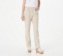 Quacker Factory DreamJeannes Pull-on Regular Straight Leg Pants - A292998