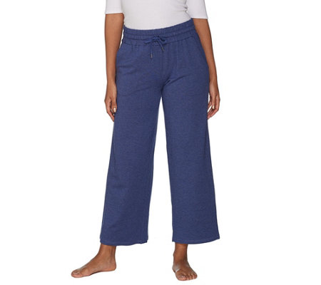 AnyBody Loungewear Cozy Knit French Terry Wide Ankle Pant