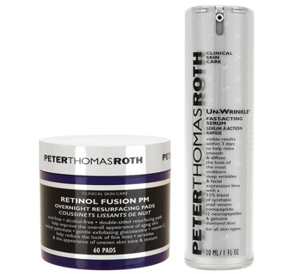 Peter Thomas Roth UnWrinkle Serum & Retinol Resurfacing Pads