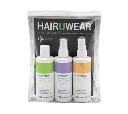 Hairuwear 3-Piece Essential Care Kit for Wigs and Extensions
