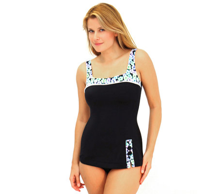 Fit 4 U C's A Lot 2 Like Retro Sheath with Buttons Swimsuit