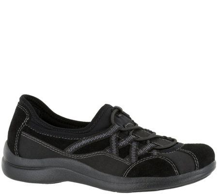 Easy Street Sport Bungee Slip-on Shoes - Laurel