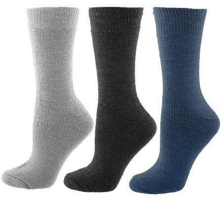 35 Degrees Below 3 Pair Merino Wool Boot Socks
