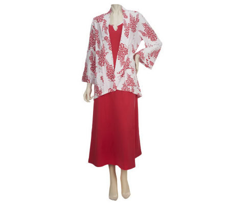 SleepIn by BedHead PJs Leafy Sprays 2-piece Gown and Jacket Set