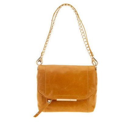 B.Makowsky Jynx Glazed Leather Shoulder Bag