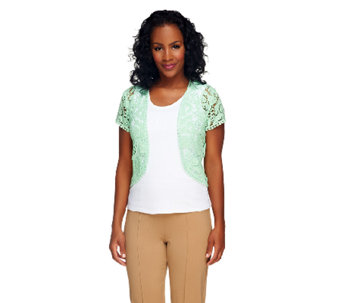 Liz Claiborne New York Open Front Lace Shrug - A253999