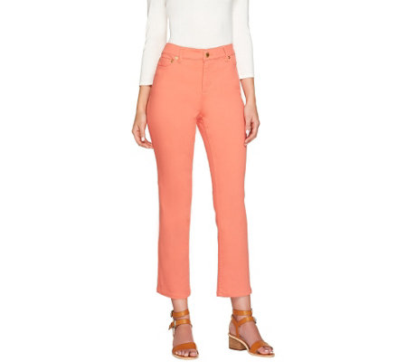 Liz Claiborne New York Petite Jackie Colored Ankle Jeans