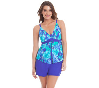 Liz Claiborne New York Flyaway Tankini and Shorts Swimsuit - A263699