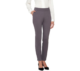 Project Runway by Dmitry Sholokhov Slim Leg Ponte Knit Pull-on Pants - A264699