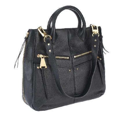 """As Is"" Aimee Kestenberg Leather Nikki Convertible Shopper"
