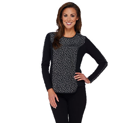 GK George Kotsiopoulos Printed Long Sleeve Hi-Low Hem Top