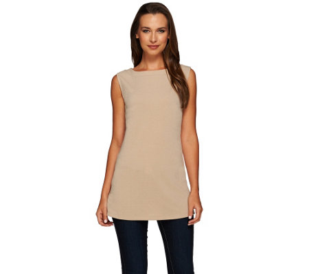 Susan Graver Passport Knit Bateau Neck Tank