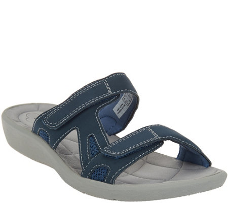 Clarks Cloud Steppers 2 Strap Slide Sandals - Sillian Wonder