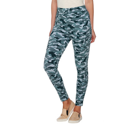 LOGO by Lori Goldstein Camo Printed Leggings