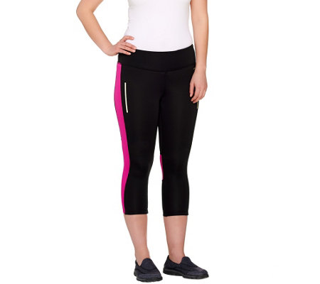 """As Is"" Jockey Sport Glow in the Dark Performance Capri Leggings"