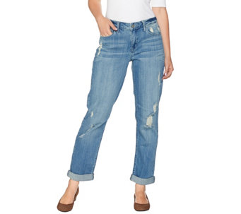 Hot in Hollywood Distressed Boyfriend Jeans - A279099
