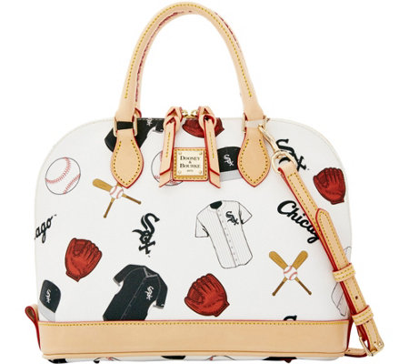 Dooney & Bourke MLB White Sox Zip Zip Satchel