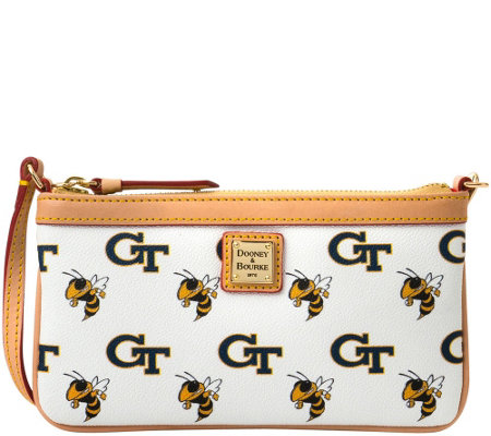 Dooney & Bourke NCAA Georgia Tech University Slim Wristlet