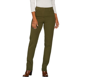Isaac Mizrahi Live! Regular 24/7 Stretch Straight Leg Fly Front Pants - A286099
