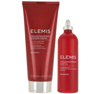 Elemis Frangipani Monoi Shower Cream and Body Oil Set