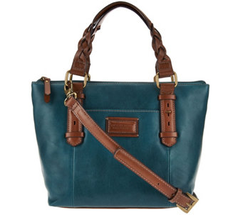 """As Is""Vintage Tignanello Leather RFID Mini Tote with Braided Handles - A288199"