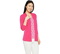 Susan Graver Liquid Knit Cardigan Set - A288499