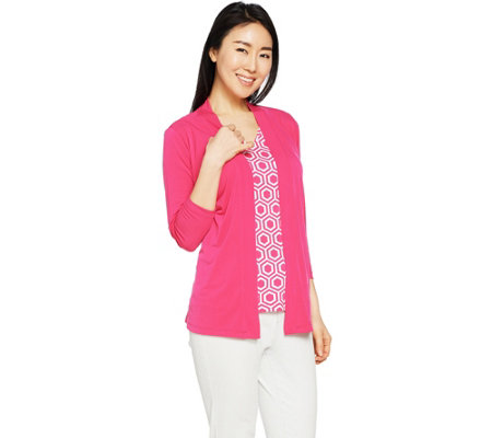Susan Graver Liquid Knit Cardigan Set