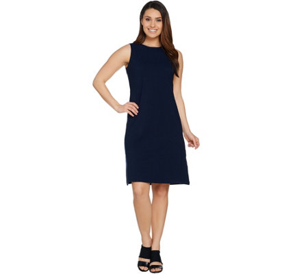 Women with Control Crew Neck Sleeveless Knit Dress