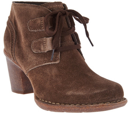 """As Is"" Clarks Artisan Leather Lace-up Boots - Carleta Lyon"