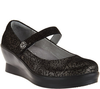 """As Is"" Alegria Leather Mary Janes - Flair - A291199"