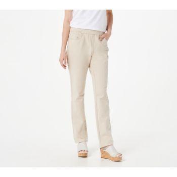 Quacker Factory DreamJeannes Pull-on Short Straight Leg Pants