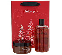 philosophy sweet men holiday shower gel & souffle duo with bag - A298299