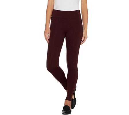 Laurie Felt Pull On Ponte Pants with Flat Waistband