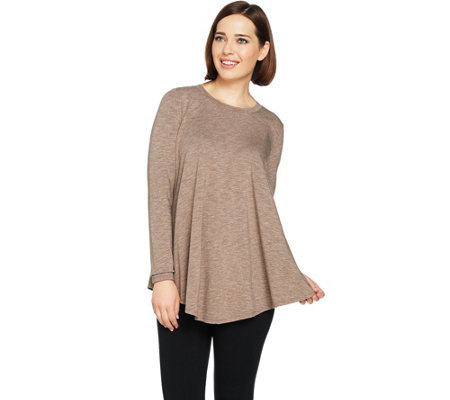 """As Is"" AnyBody Loungewear Cozy Knit Demi-Swing Top"