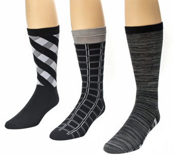 MUK LUKS Men's 3-Pair Crew Sock Pack - A337699