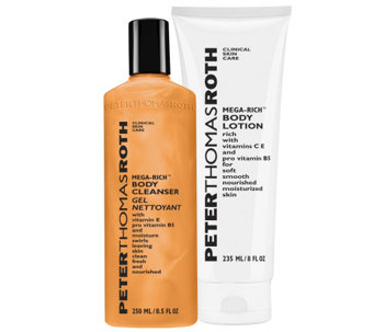 Peter Thomas Roth Mega-Rich Body Cleanser and Lotion Duo - A340399