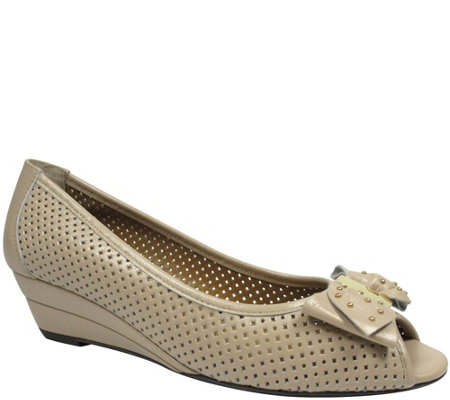 J. Renee Peep-toe Wedges - Dovehouse