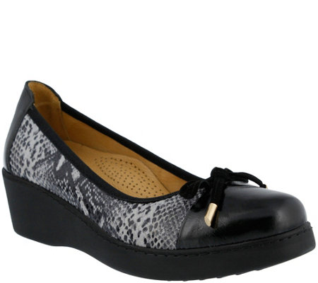 Spring Step Slip-on Leather Shoes - Alika