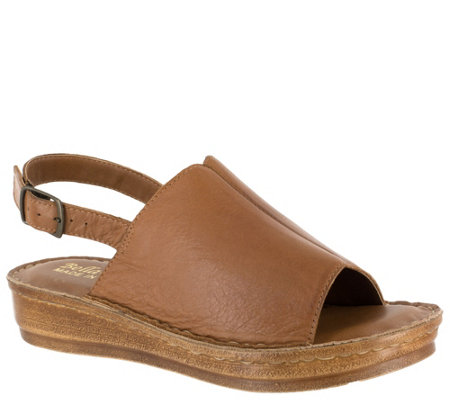 Bella Vita Leather Sandals - Wit-Italy