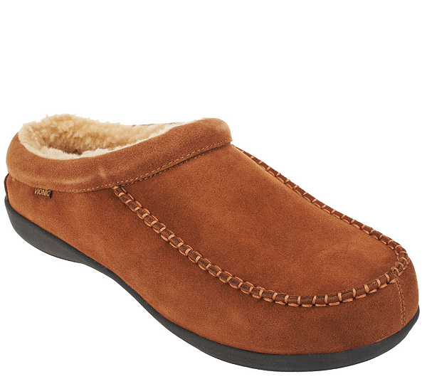 Mens Vionic Barrow Mens Faux shearling lined slipper Coupon Code Size 42
