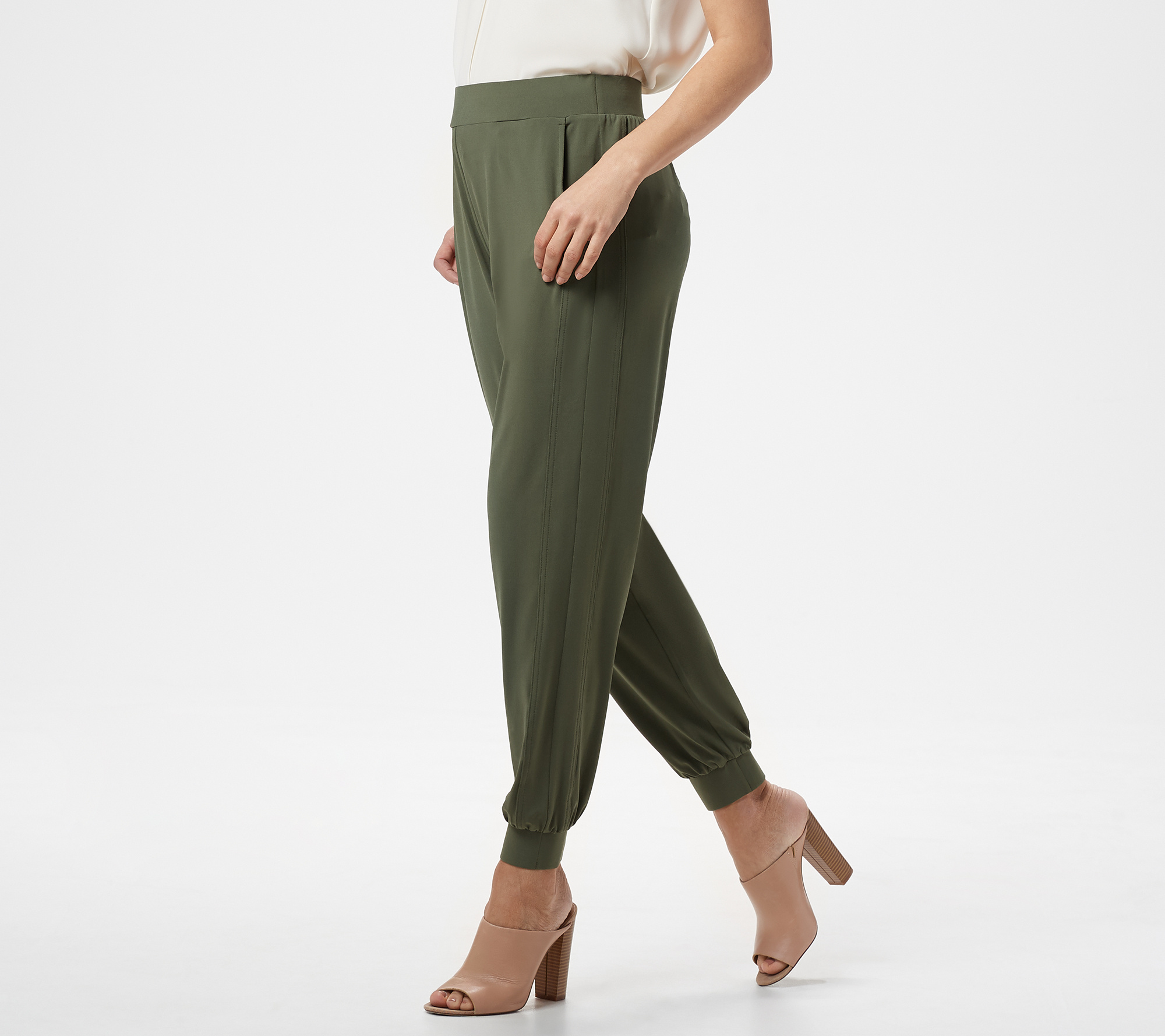 Ships Week Of 6/25 Lisa Rinna Collection Pet. Knit Ankle Pant by Qvc