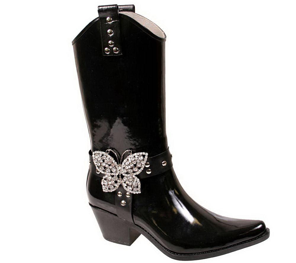 Nomad Flutter Fancy Buckle Western Rain Boots — QVC.com