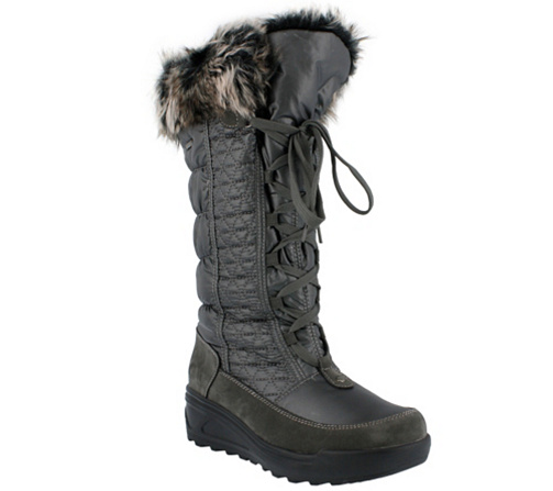 Womens Womens Quilted Knee High Waterproof Fur Lined Lace Up Winter Rain Snow Boots All The Best Size 36