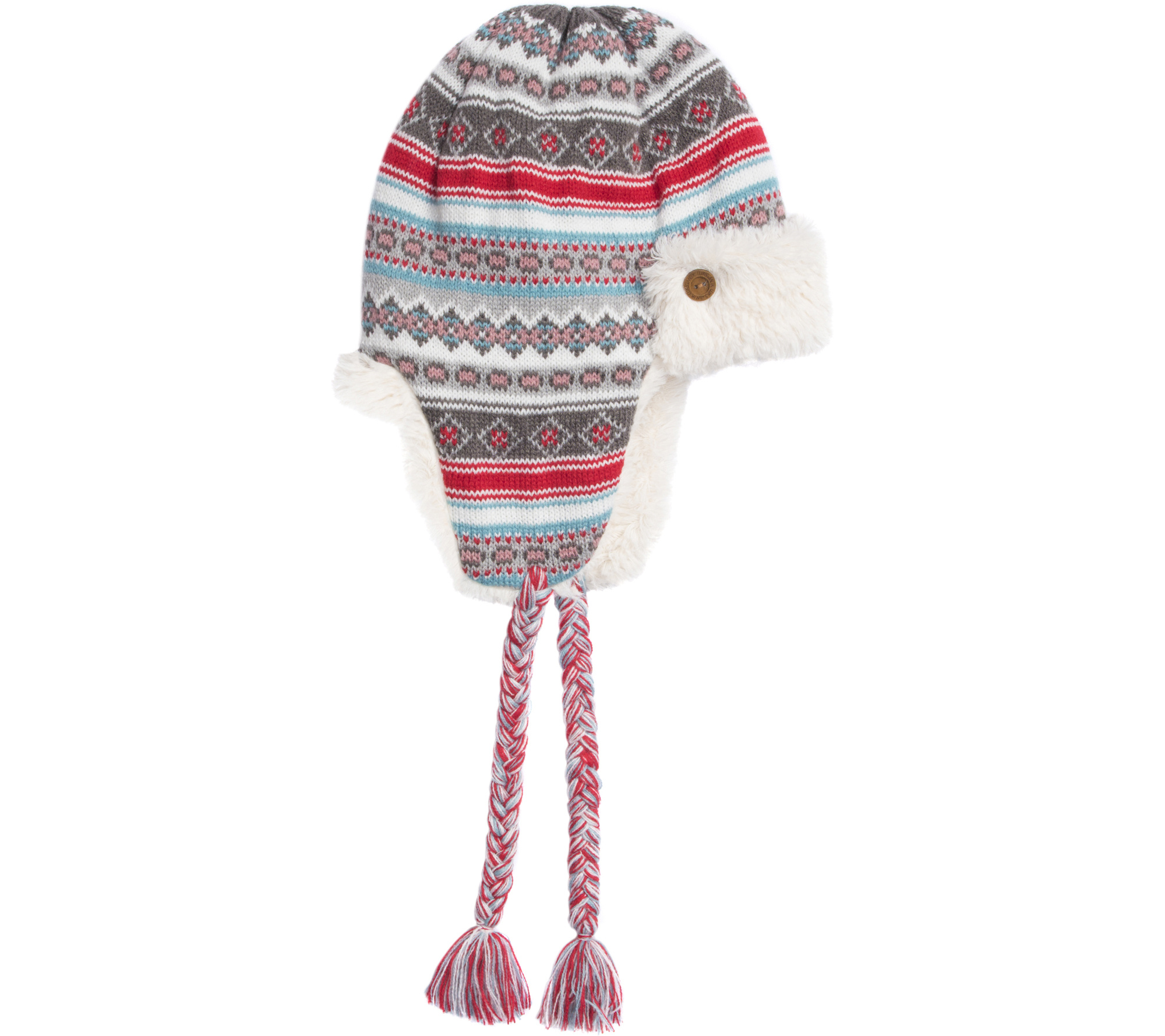 MUK LUKS Women's Fair Isle Trapper Hat — QVC.com