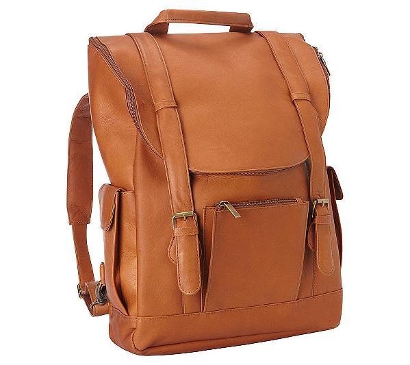 Le Donne Leather Classic Laptop Backpack — QVC.com