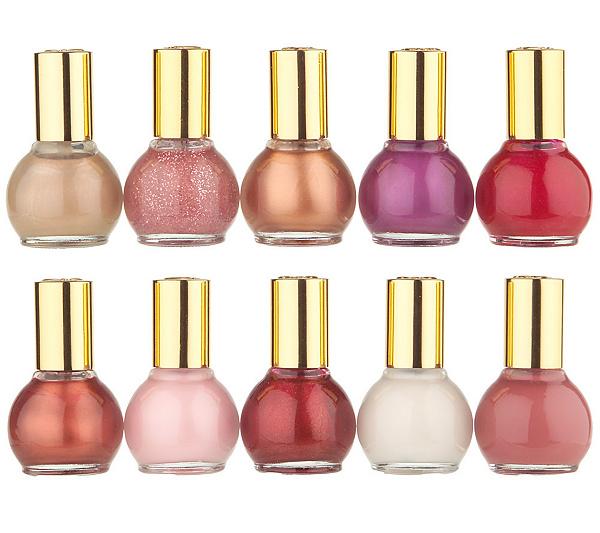 Joan Rivers Beauty 10pc Mini Nail Polish Wardrobe - Page 1 — QVC.com